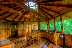 Treehouse interior at Finca Bellavista