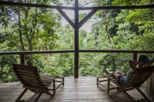Paraiso treehouse deck Finca Bellavista Costa Rica