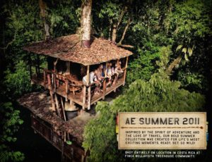 Summer 2011 American Eagle Outfitters ad at Finca Bellavista