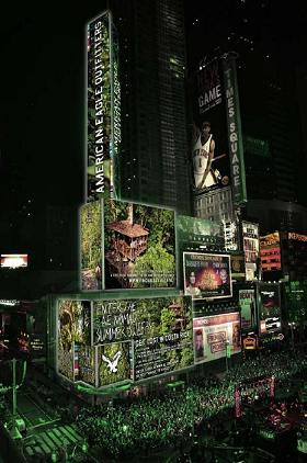 Finca Bellavista on American Eagle Outfitters Jumbotron in Times Square